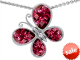 Original Star K™ Butterfly with Pear Shape Created Ruby Pendant style: 307957