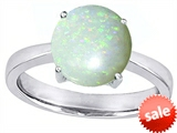 Original Star K™ Large Solitaire Big Stone Ring with 10mm Round Created Opal style: 307960