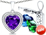 Switch-It Gems™ Heart Shape 10mm Simulated Amethyst Pendant with 12 Interchangeable Simulated Birthstones style: 307961