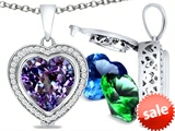 Switch-It Gems™ Heart Shape 10mm Simulated Alexandrite Pendant with 12 Interchangeable Simulated Birthstones style: 307962