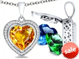 Switch-It Gems™ Heart Shape 10mm Simulated Citrine Pendant with 12 Interchangeable Simulated Birthstones style: 307965