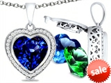 Switch-It Gems™ Heart Shape 10mm Simulated Sapphire Pendant with 12 Interchangeable Simulated Birth Months style: 307971