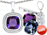 Switch-It Gems™ Cushion Cut 10mm Simulated Alexandrite Pendant with 12 Interchangeable Simulated Birthstones style: 307986