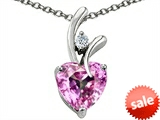 Original Star K™ Heart Shape 8mm Simulated Pink Morganite Pendant style: 308034