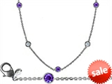 Original Star K™ 72 Inch Gems By The Yard Necklace With Cubic Zirconia And Simulated Tanzanite style: 308037