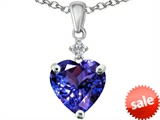 Original Star K™ 8mm Heart Shape Simulated Tanzanite Pendant style: 308038