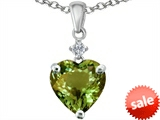 Original Star K™ 8mm Heart Shape Simulated Peridot Pendant