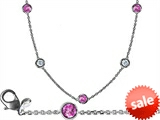 Original Star K™ 72 Inch Gems By The Yard Necklace With Cubic Zirconia And Simulated Pink Sapphire style: 308045