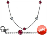 Original Star K™ 72 Inch Gems By The Yard Necklace With CZ And Created Ruby