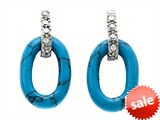 Noah Philippe™ Oval Shape Turquoise Earrings style: 308071