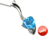 Tommaso Design™ Trillion Cut Genuine Blue Topaz Pendant style: 308095