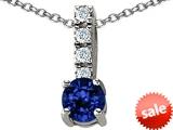 Original Star K™ Round Created Sapphire Pendant style: 308139