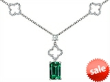 Original Star K™ Emerald Cut Simulated Emerald Necklace style: 308140