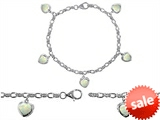 Original Star K™ High End Tennis Charm Bracelet With 5pcs 7mm Heart Shape Created Opal style: 308149