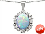 Original Star K™ Large Oval Created Opal Pendant style: 308153