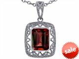 Tommaso Design™ Emerald Cut Genuine Garnet Pendant style: 308192