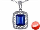 Tommaso Design™ Emerald Cut Created Sapphire Pendant style: 308196