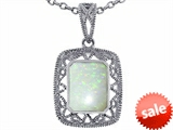 Tommaso Design™ Emerald Cut Genuine Opal Pendant style: 308198