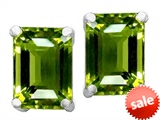 Original Star K™ 8x6mm Emerald Cut Simulated Green Tourmaline Earrings style: 308204