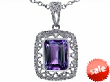 Tommaso Design™ Emerald Cut Simulated Alexandrite Pendant style: 308211