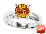 Original Star K™ Round Genuine Citrine Engagement Ring