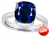Original Star K™ 8mm Cushion Cut Solitaire Engagement Ring with Created Sapphire