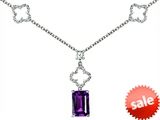 Original Star K™ Emerald Cut Simulated Amethyst Necklace style: 308231