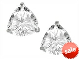 Original Star K™ Trillion 7mm White Topaz Earring Studs