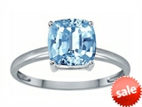 Tommaso Design™ Simulated Aquamarine 7mm Cushion Cut Solitaire Engagement Ring