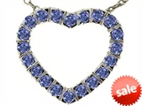 Tommaso Design™ Heart Shape Pendant with Round Genuine Tanzanite style: 308255
