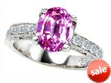 Original Star K™ Oval Created Pink Sapphire Ring