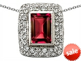 Original Star K™ 9x6mm Octogon Emerald Cut Created Ruby Pendant style: 308277