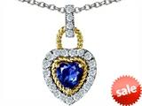 Original Star K™ Heart Shape Created Sapphire Pendant style: 308289