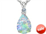 Original Star K™ Large 14x10mm Pear Shape Created Opal Pendant style: 308294