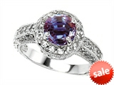 Original Star K™ 7mm Round Simulated Alexandrite Engagement Ring style: 308313