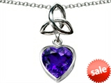 Celtic Love by Kelly ™ Love Knot Pendant with Heart 9mm Simulated Amethyst style: 308324