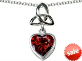 Celtic Love by Kelly ™ Love Knot Pendant with Heart 9mm Simulated Garnet