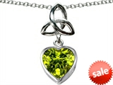 Celtic Love by Kelly ™ Love Knot Pendant with Heart 9mm Simulated Peridot