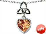 Celtic Love by Kelly ™ Love Knot Pendant with Heart 9mm Simulated Imperial Yellow Topaz