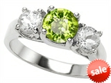 Original Star K™ 7mm Round Genuine Peridot Engagement Ring style: 308352