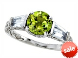 Original Star K™ Round 7mm Simulated Green Tourmaline Engagement Ring style: 308405