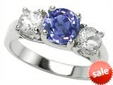 Original Star K™ Round Simulated Tanzanite Engagement Ring style: 308452