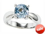Original Star K™ 7mm Round Simulated Aquamarine Engagement Ring style: 308464