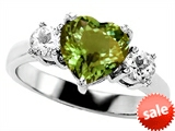 Original Star K™ 8mm Heart Shape Simulated Green Tourmaline Engagement Ring style: 308532