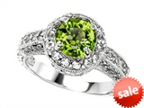 Original Star K™ 7mm Round Simulated Peridot Engagement Ring style: 308541