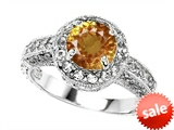 Original Star K™ 7mm Round Simulated Imperial Yellow Topaz Engagement Ring style: 308542