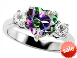 Original Star K™ Heart Shape 8mm Rainbow Mystic Topaz Engagement Ring style: 308544