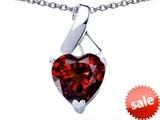 Original Star K™ 7mm Heart Shape Genuine Garnet Ribbon Pendant style: 308546