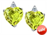 Original Star K™ 7mm Heart Shape Simulated Peridot Earrings style: 308567