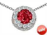 Original Star K™ Round 6mm Created Ruby Pendant style: 308587